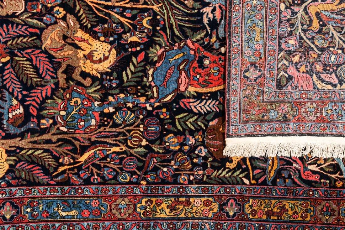 Fine/Rare Antique Bidjar Pictorial Rug: 4'5'' x 6'11'' - 4