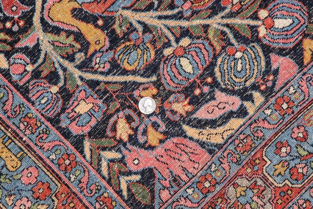Fine/Rare Antique Bidjar Pictorial Rug: 4'5'' x 6'11'' - 5