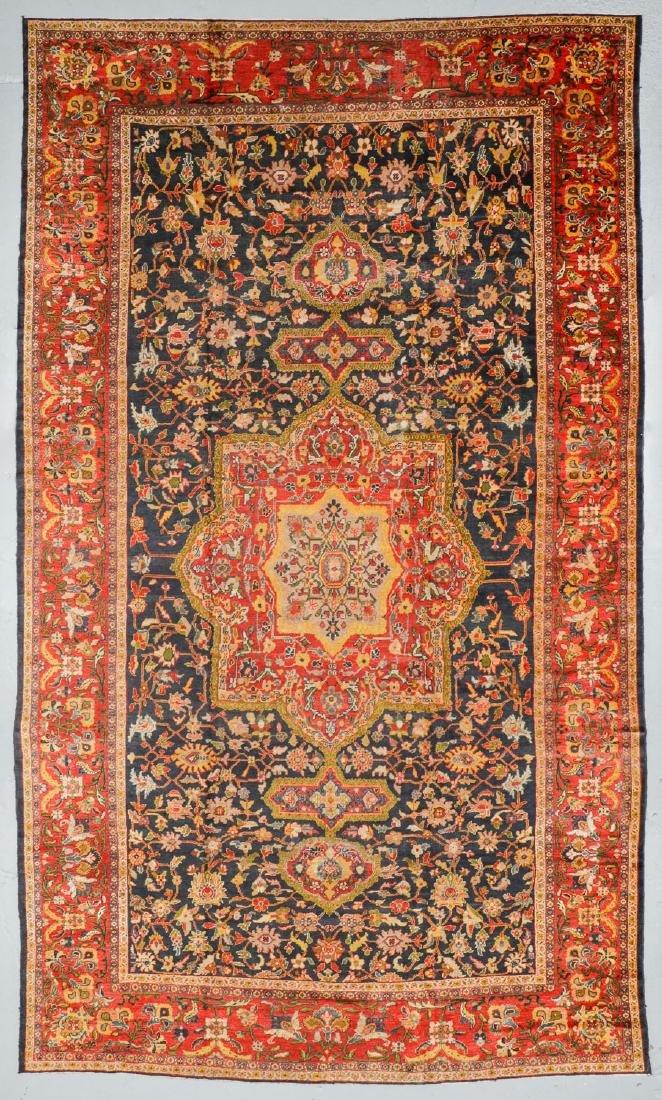 Antique Sultanabad Rug, Persia: 10'6'' x 17'6''