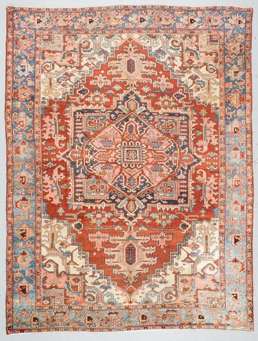 Antique Heriz Rug, Persia: 9'4'' x 12'6''