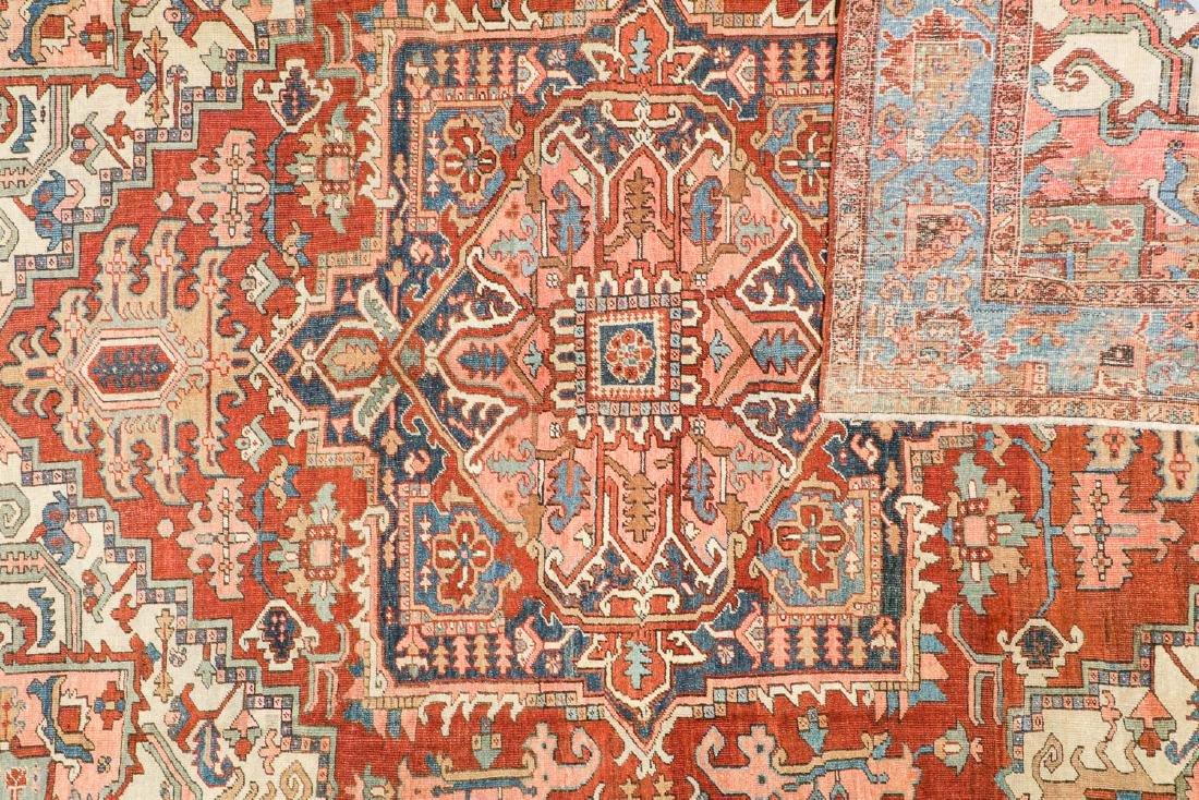 Antique Heriz Rug, Persia: 9'4'' x 12'6'' - 4