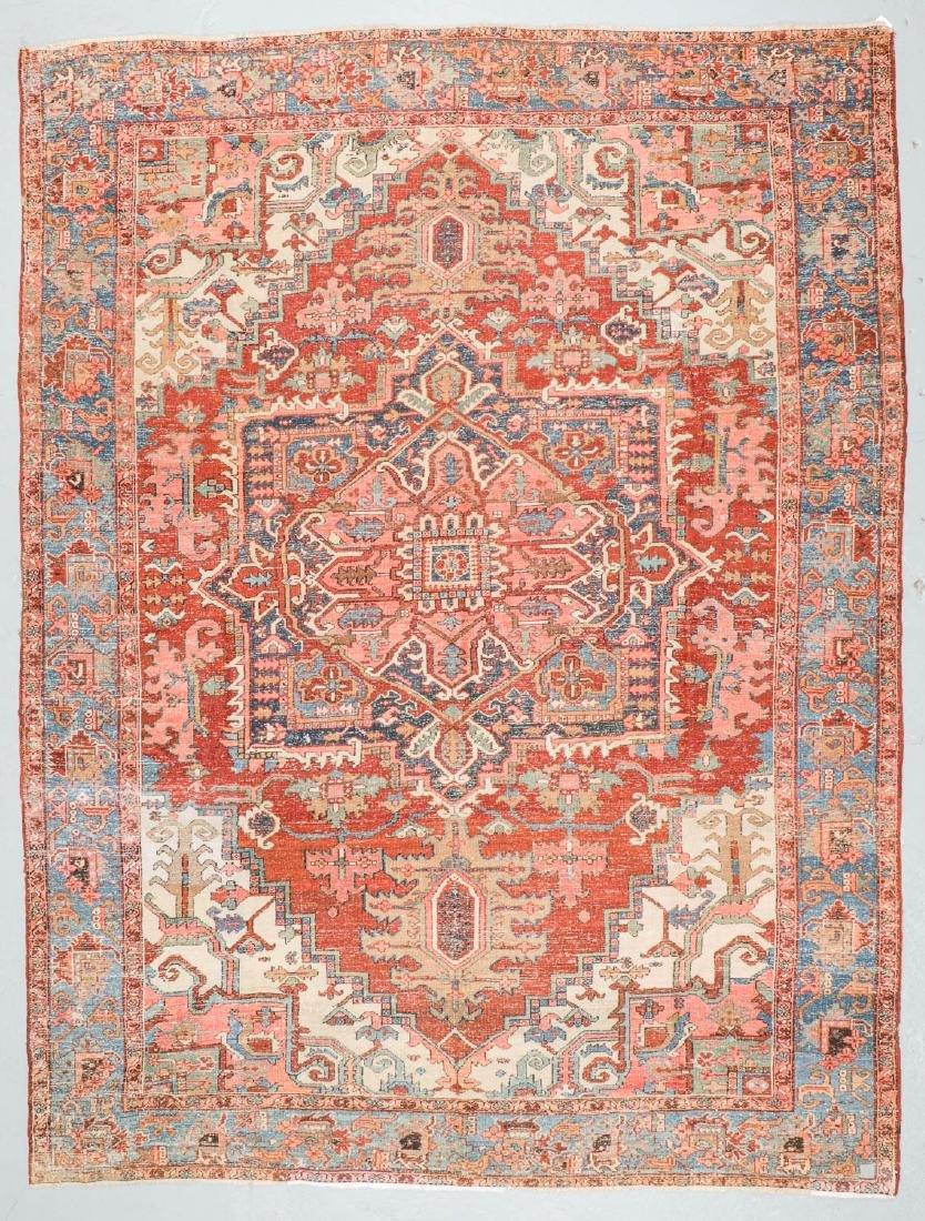 Antique Heriz Rug, Persia: 9'4'' x 12'6'' - 7