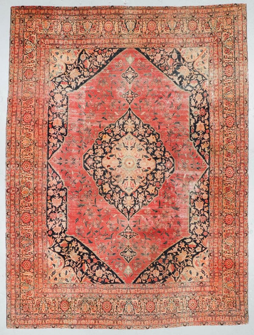 Antique Tabriz Rug, Persia: 10'11'' x 14'10''
