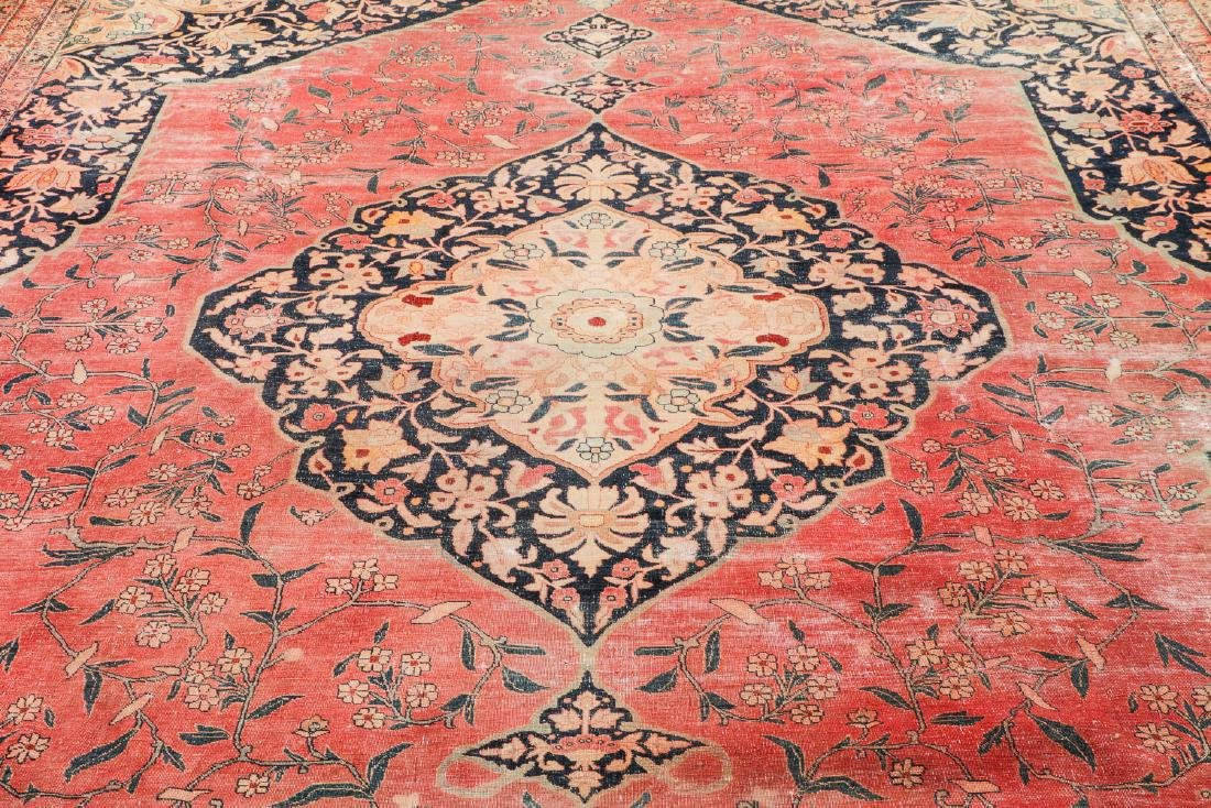 Antique Tabriz Rug, Persia: 10'11'' x 14'10'' - 6