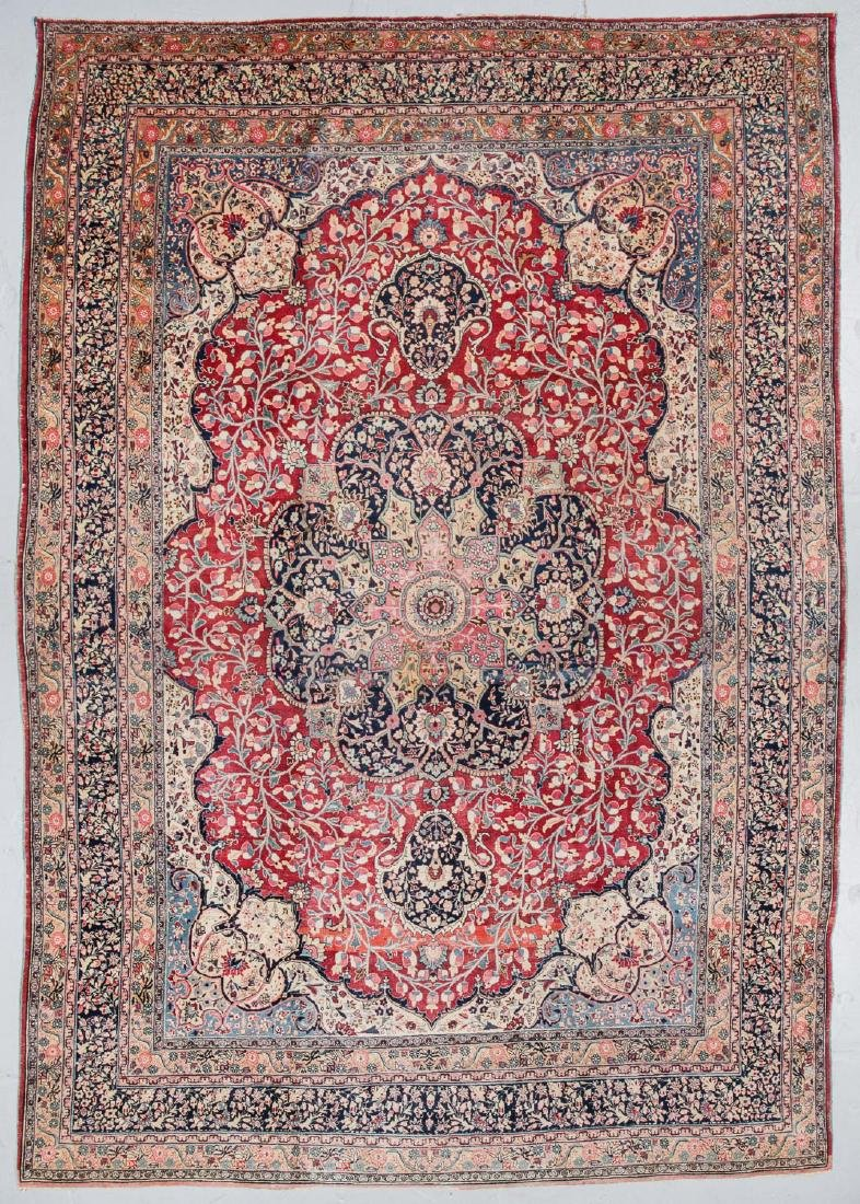 Antique Meshed Rug, Persia: 10'6'' x 15'2''