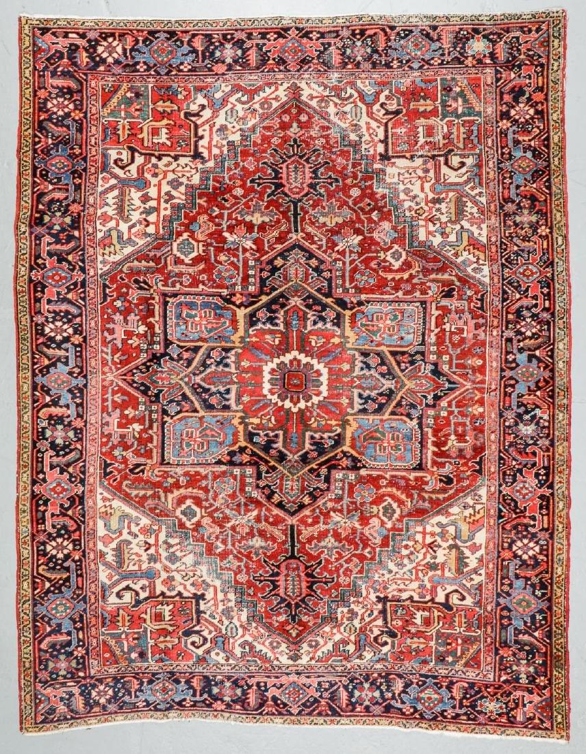 Antique Heriz Rug, Persia: 7'10'' x 10'2''