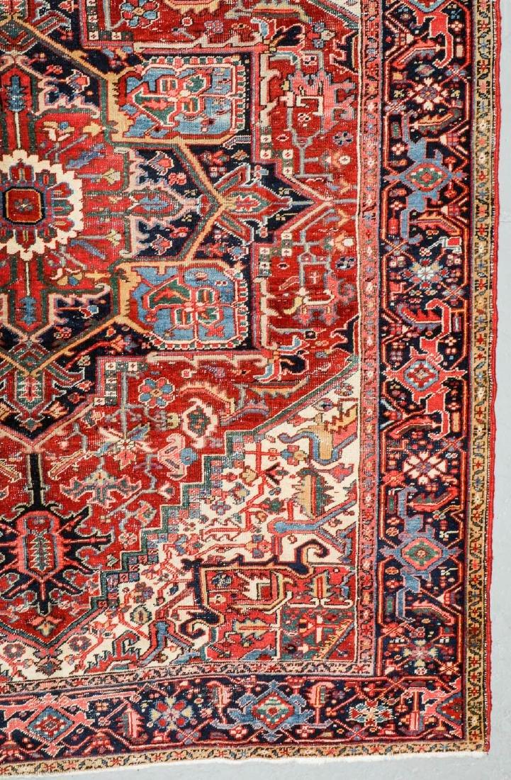Antique Heriz Rug, Persia: 7'10'' x 10'2'' - 2