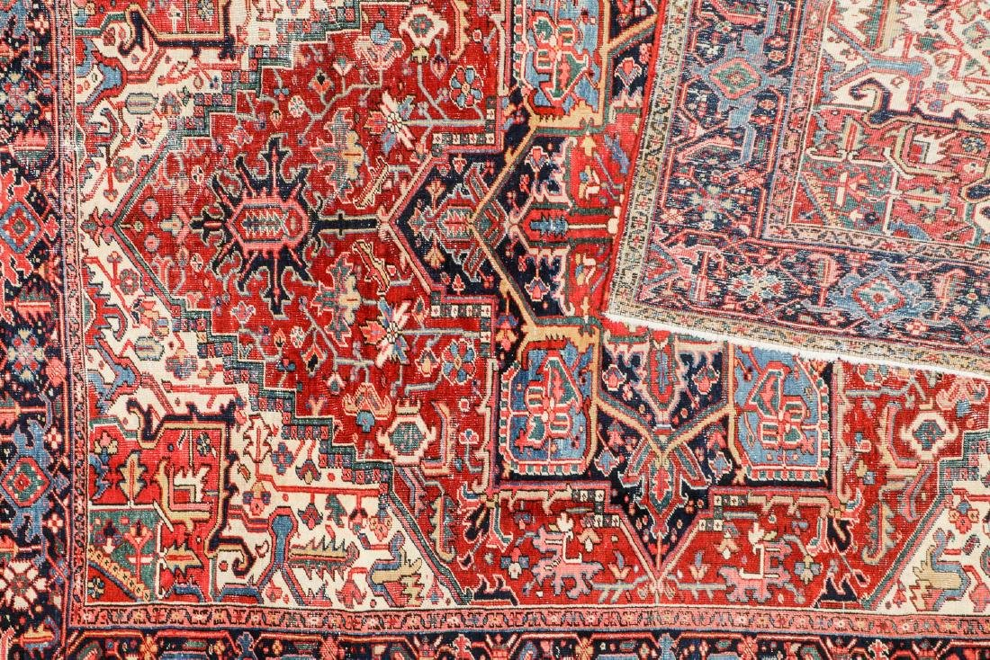 Antique Heriz Rug, Persia: 7'10'' x 10'2'' - 4