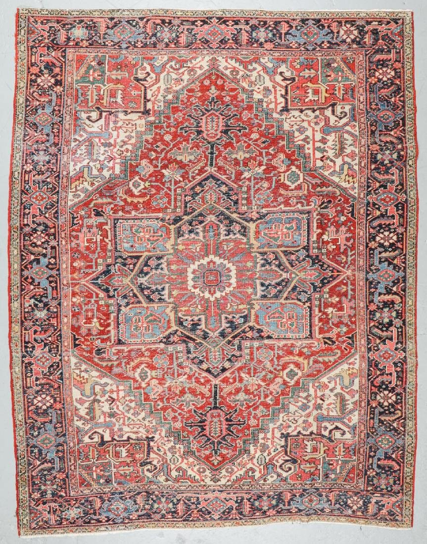 Antique Heriz Rug, Persia: 7'10'' x 10'2'' - 7
