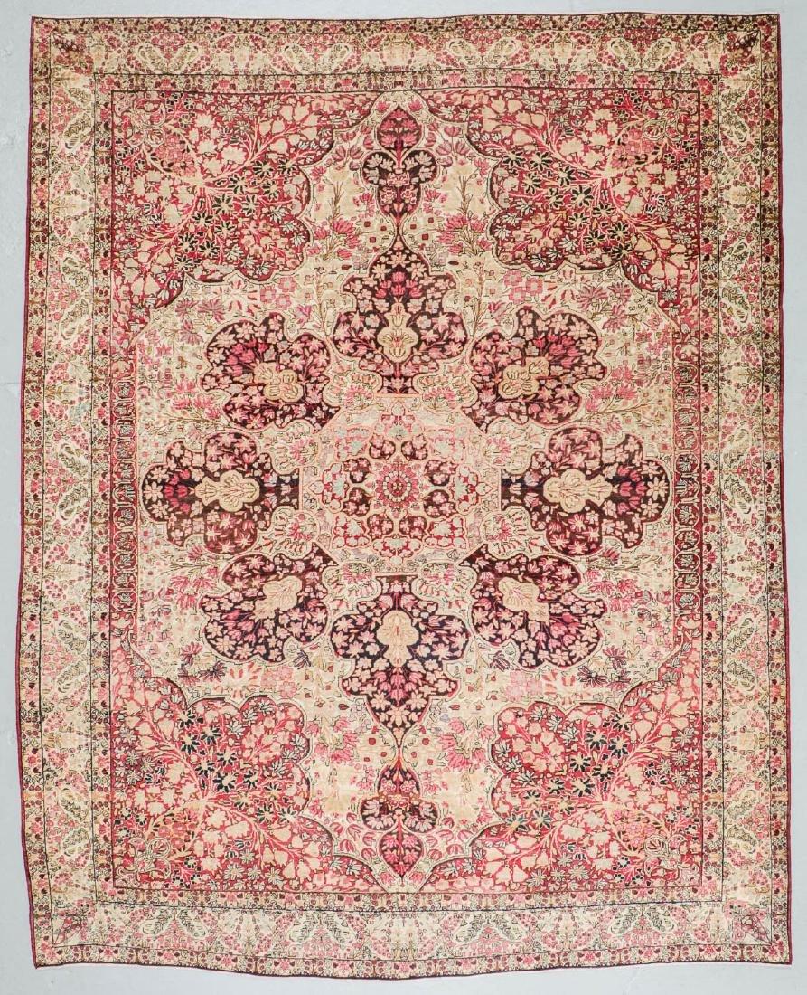 """Antique Lavar Kerman Rug, Persia: 9'8'' x 12'6"""""""