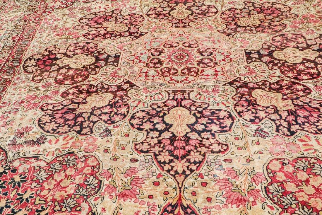 """Antique Lavar Kerman Rug, Persia: 9'8'' x 12'6"""" - 6"""