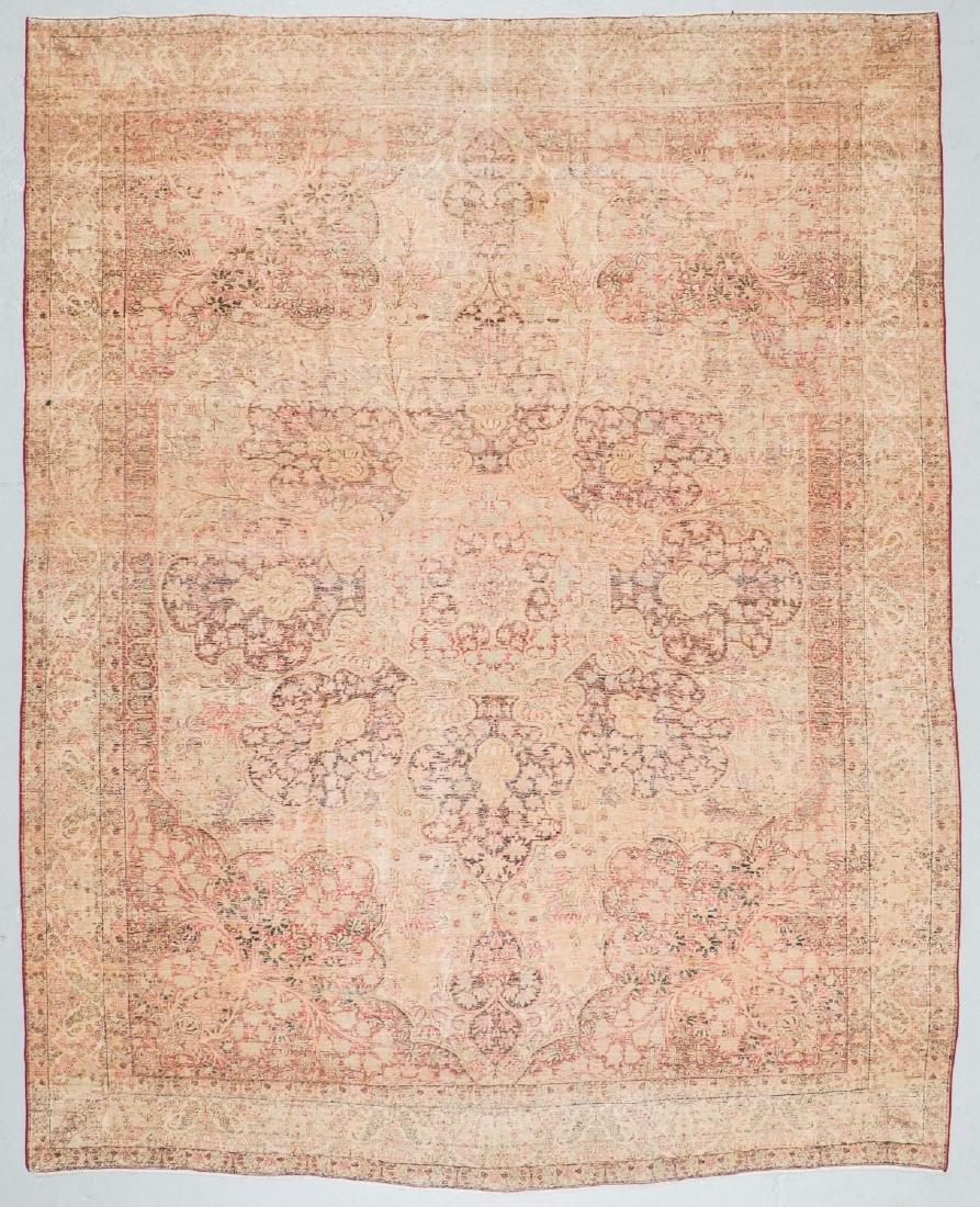 """Antique Lavar Kerman Rug, Persia: 9'8'' x 12'6"""" - 7"""