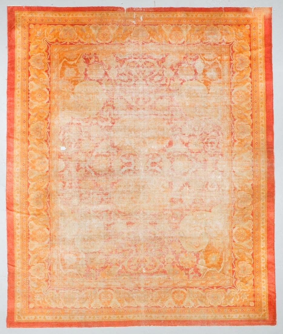 19th C. Amritsar Rug, India: 12'5'' x 14'9''