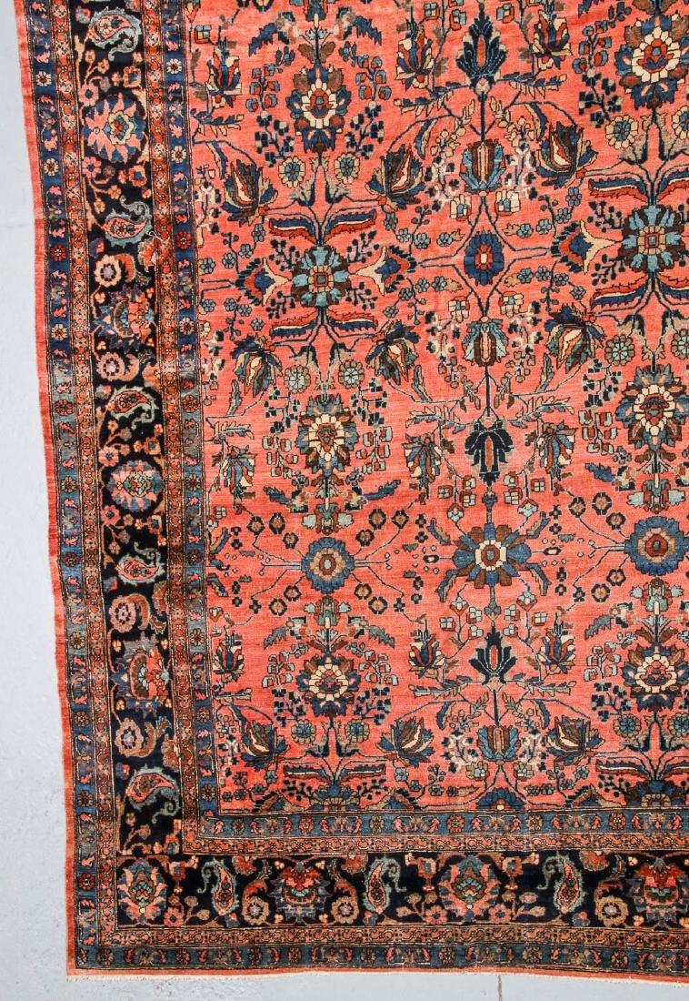 Antique Mansion Size Hamadan Rug, Persia: 12'5'' x 20' - 2