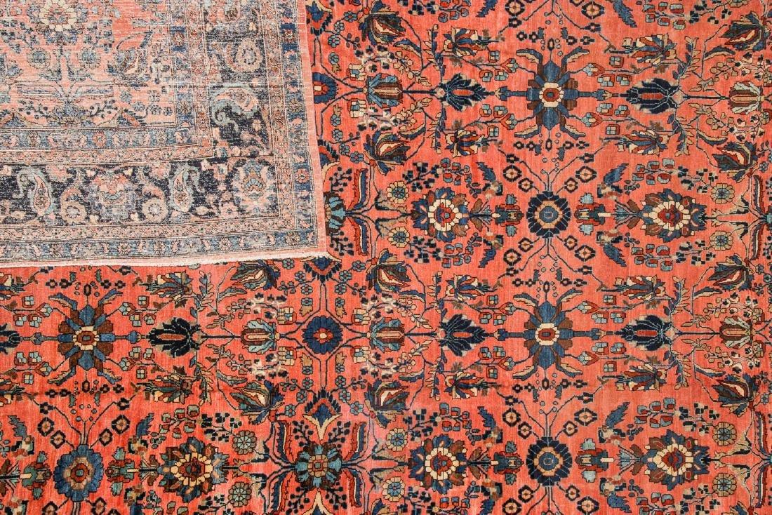Antique Mansion Size Hamadan Rug, Persia: 12'5'' x 20' - 4