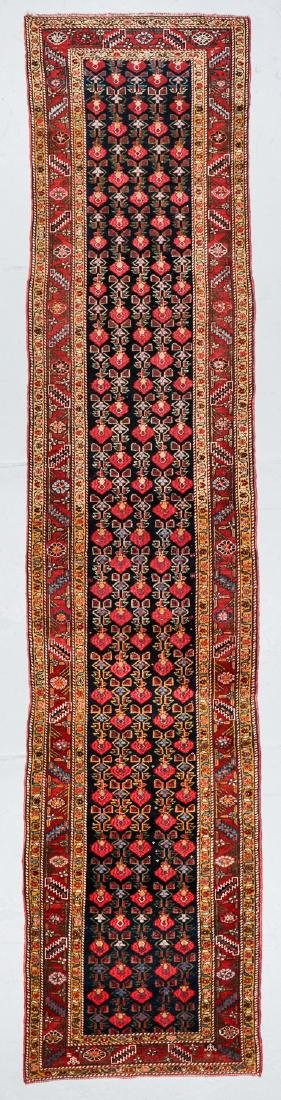 Antique West Persian Kurd Rug: 3'7'' x 15'11''