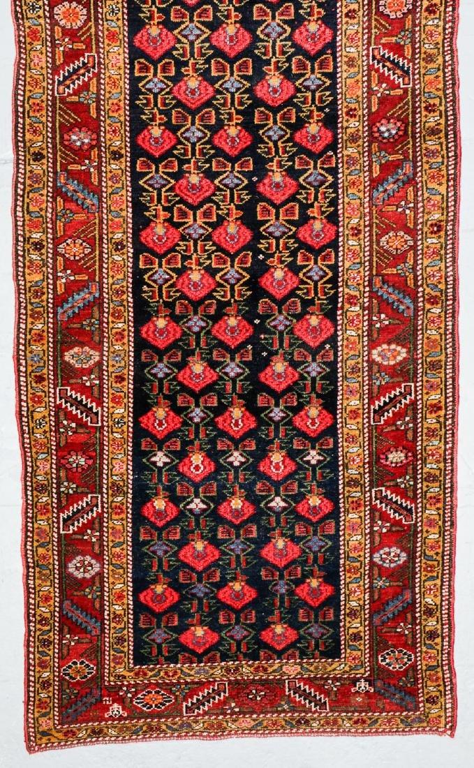 Antique West Persian Kurd Rug: 3'7'' x 15'11'' - 2