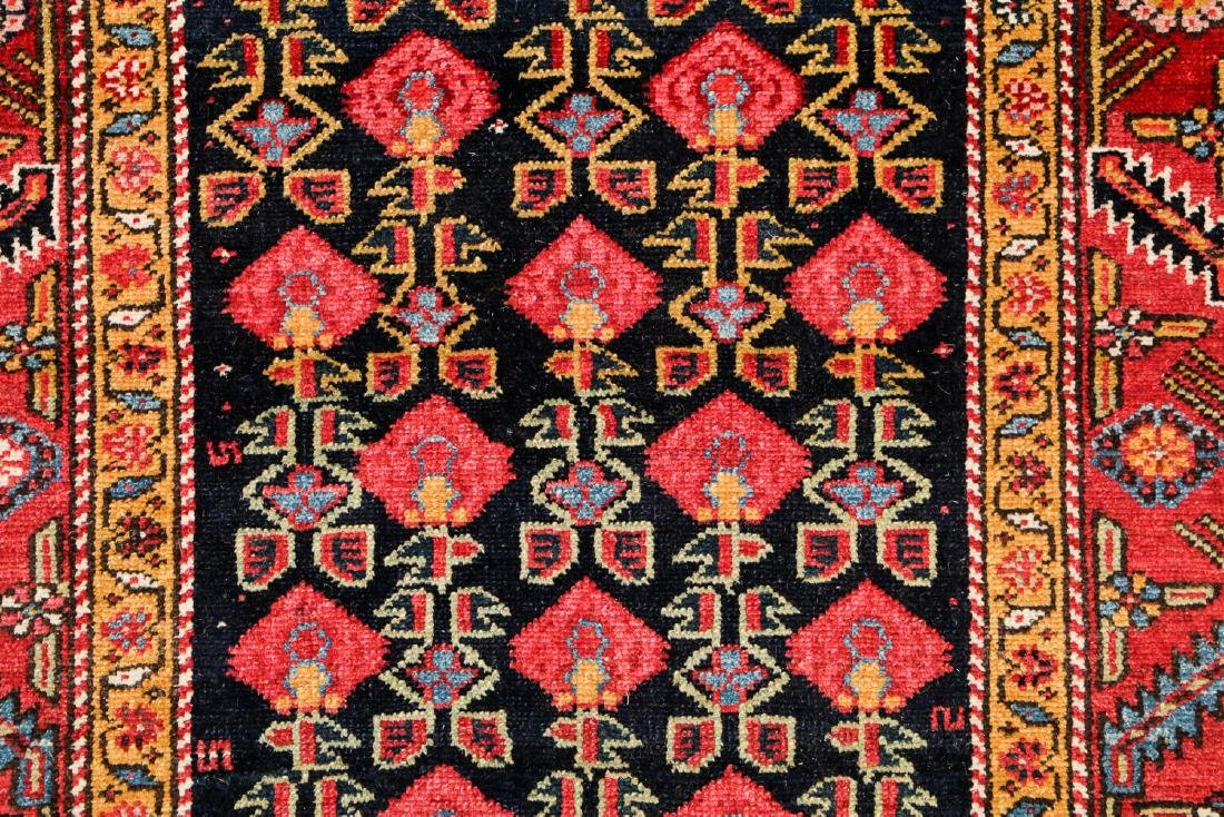 Antique West Persian Kurd Rug: 3'7'' x 15'11'' - 3