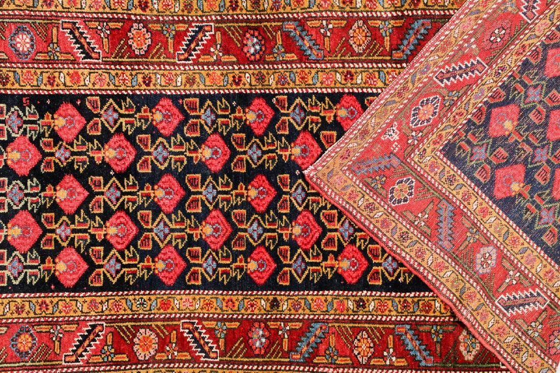Antique West Persian Kurd Rug: 3'7'' x 15'11'' - 4