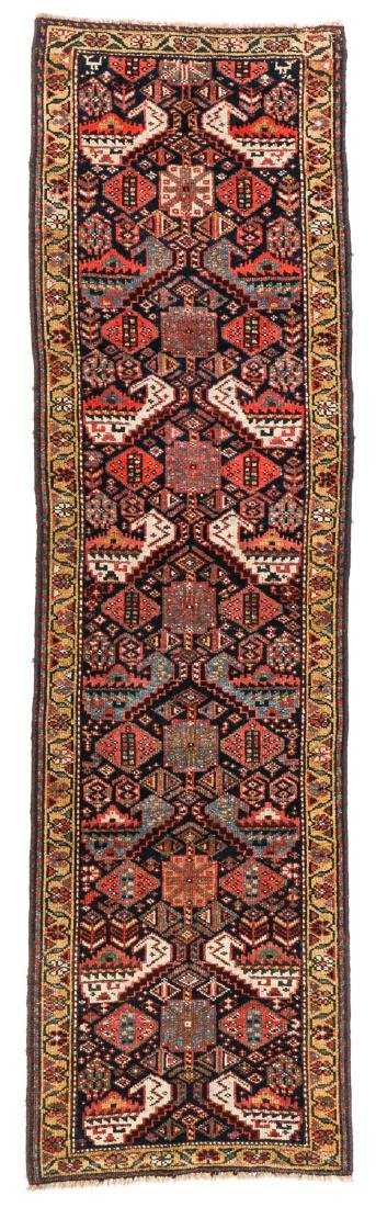 19th C. West Persian Kurd Rug, Persia: 2'6'' x 8'9''