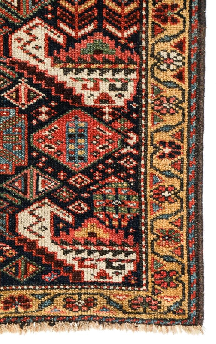 19th C. West Persian Kurd Rug, Persia: 2'6'' x 8'9'' - 3
