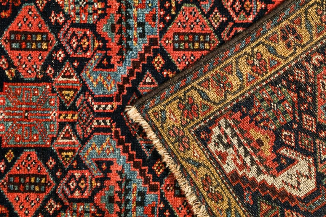 19th C. West Persian Kurd Rug, Persia: 2'6'' x 8'9'' - 4