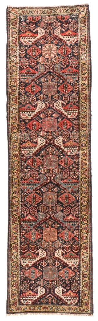 19th C. West Persian Kurd Rug, Persia: 2'6'' x 8'9'' - 7