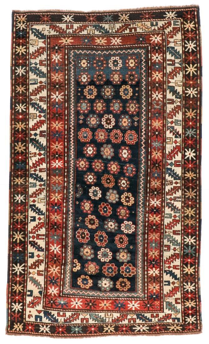 19th C. Kazak Rug, Caucasus: 4'2'' x 7'2''