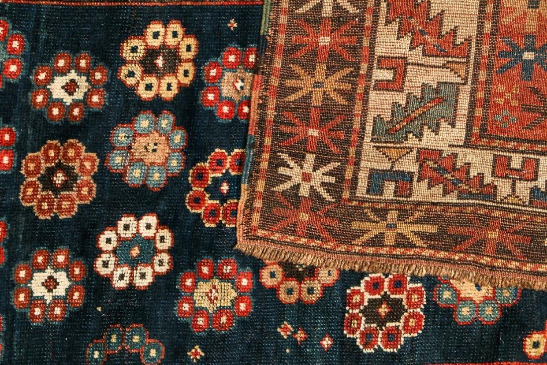 19th C. Kazak Rug, Caucasus: 4'2'' x 7'2'' - 4