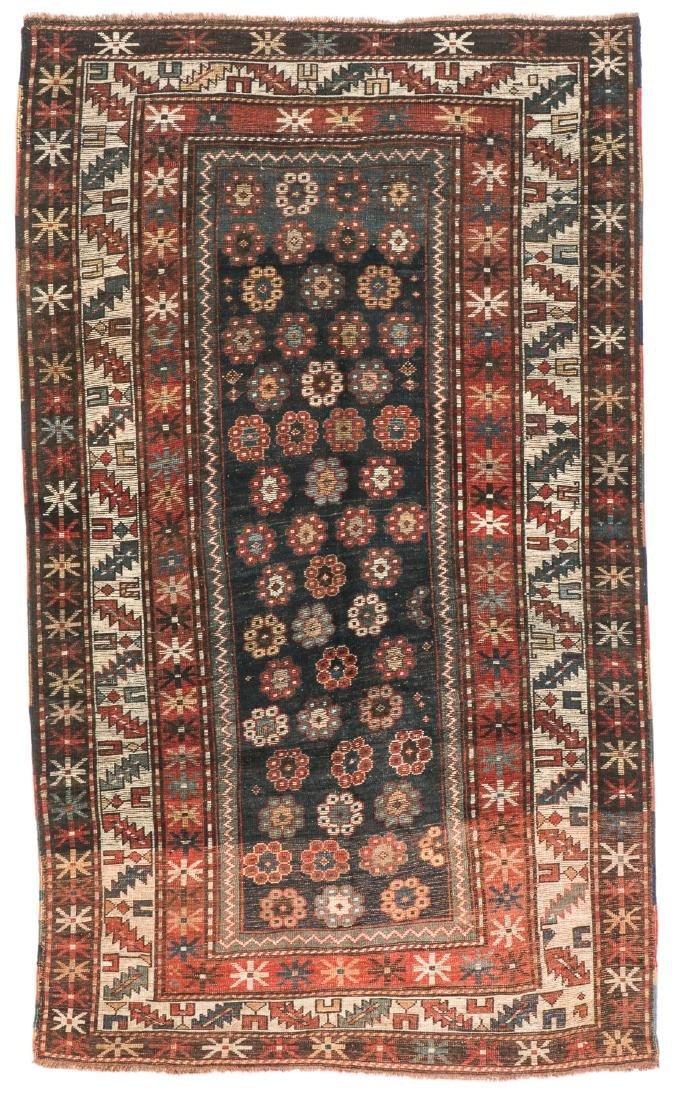 19th C. Kazak Rug, Caucasus: 4'2'' x 7'2'' - 7