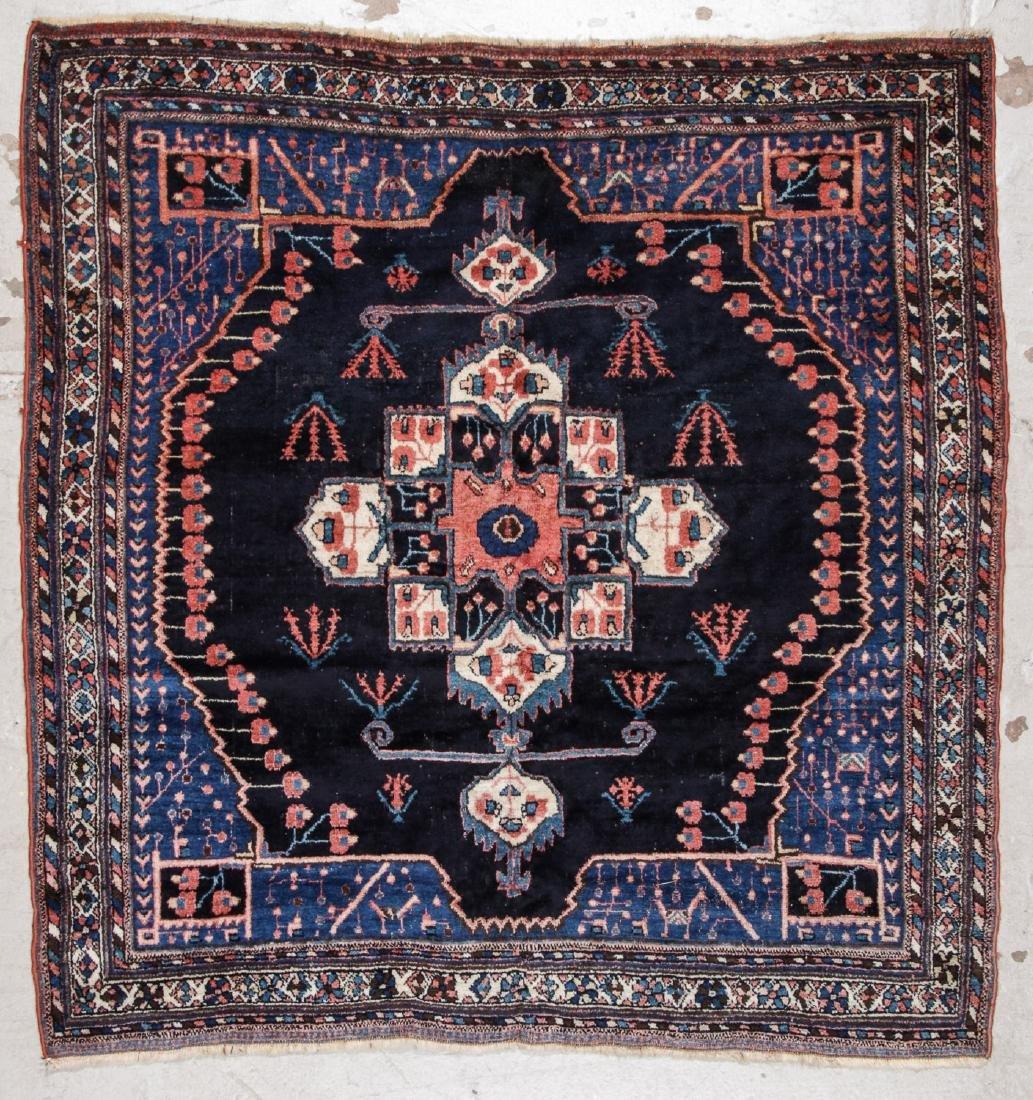Antique Persian Afshar Rug: 5'3'' x 5'5''
