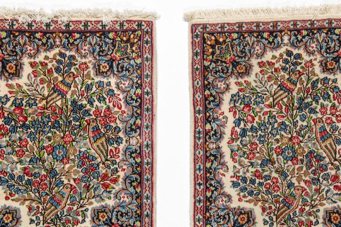 A Pair of Kerman Shared Warp Double Rugs, Persia: 1'8'' - 3