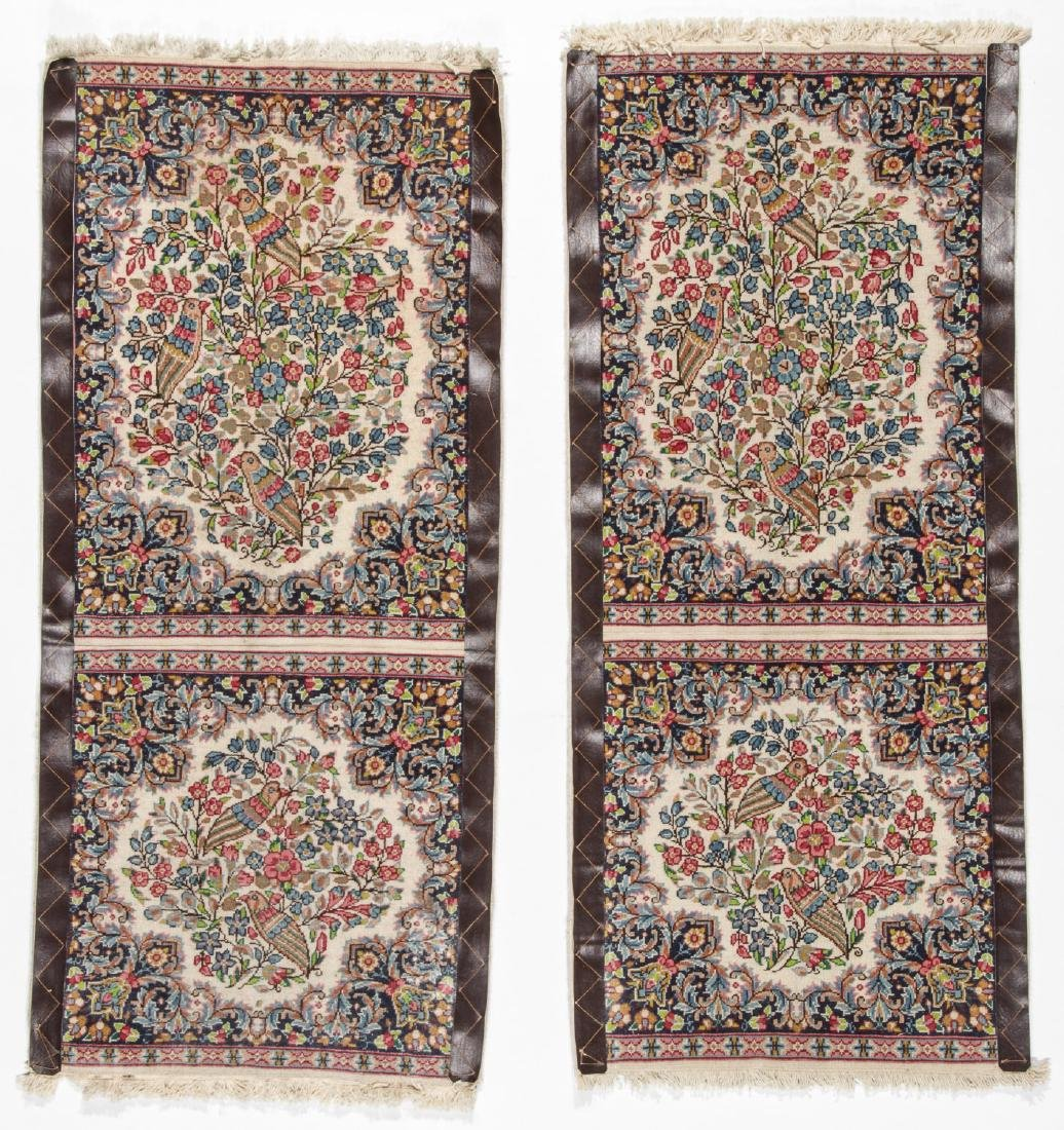 A Pair of Kerman Shared Warp Double Rugs, Persia: 1'8'' - 7