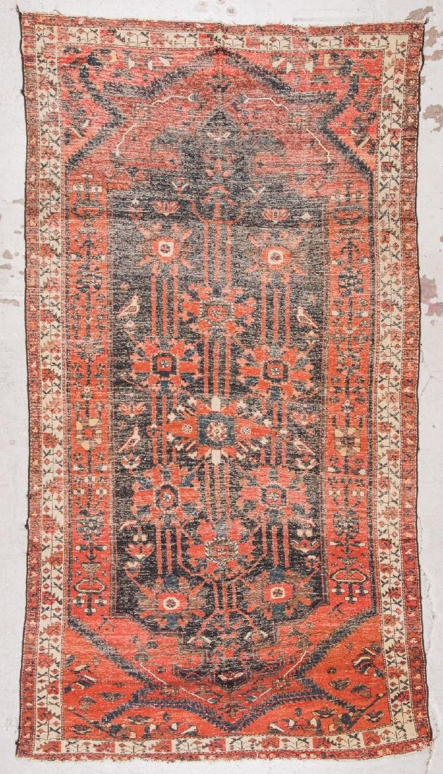 Antique Baktiari Rug, Persia: 5'2'' x 9'7'' - 7