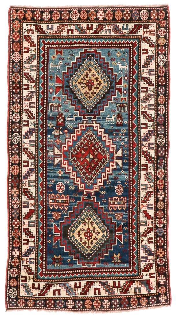 19th C. Kazak Rug, Caucasus: 3'7'' x 6'10''