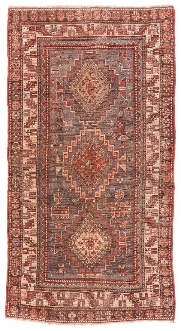 19th C. Kazak Rug, Caucasus: 3'7'' x 6'10'' - 7