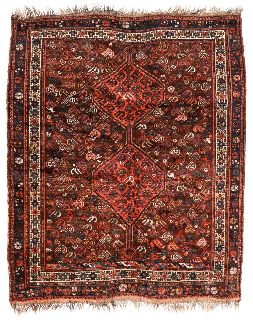 Antique Afshar Rug, Persia: 5'2'' x 6'2''