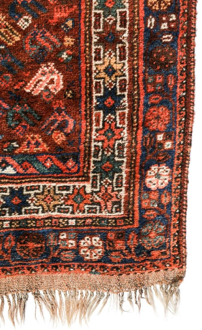 Antique Afshar Rug, Persia: 5'2'' x 6'2'' - 3