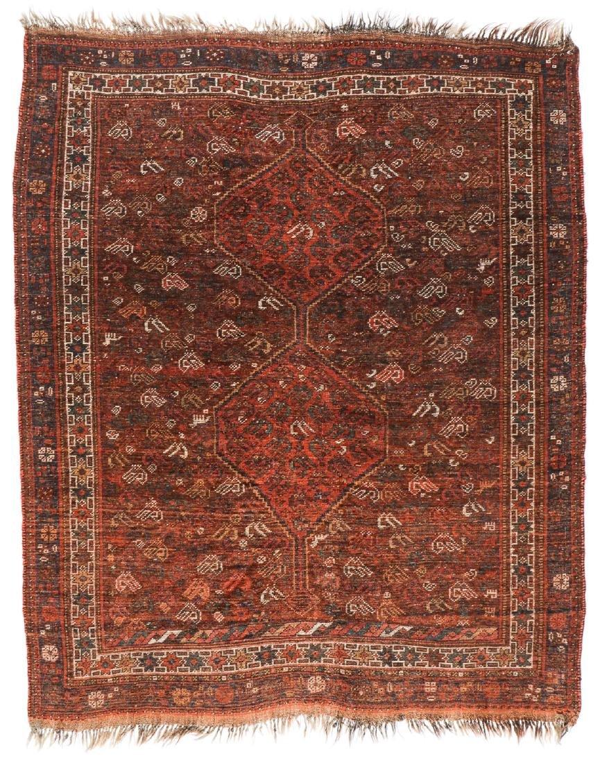 Antique Afshar Rug, Persia: 5'2'' x 6'2'' - 7