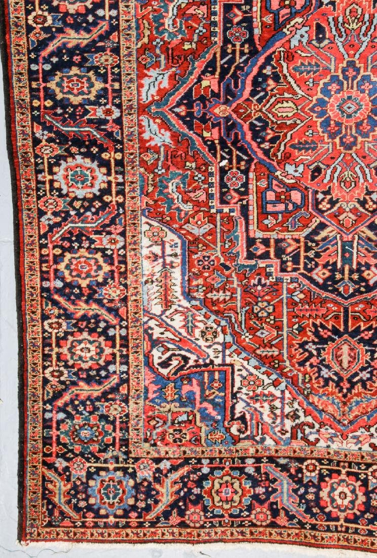 Antique Heriz and 2 Small Persian Rugs - 2