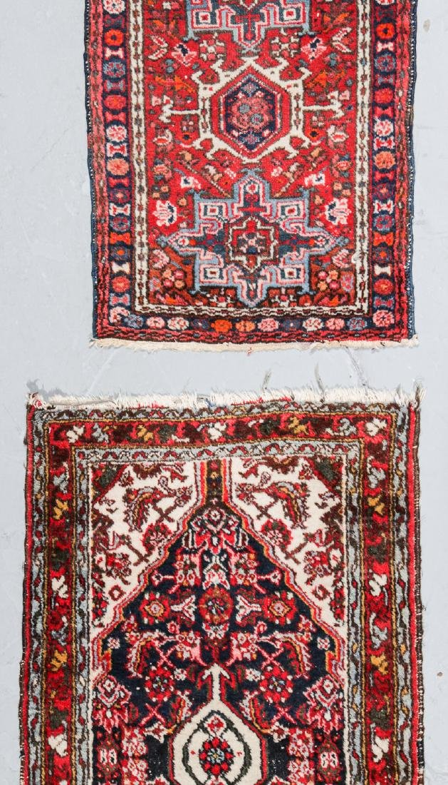 Antique Heriz and 2 Small Persian Rugs - 3