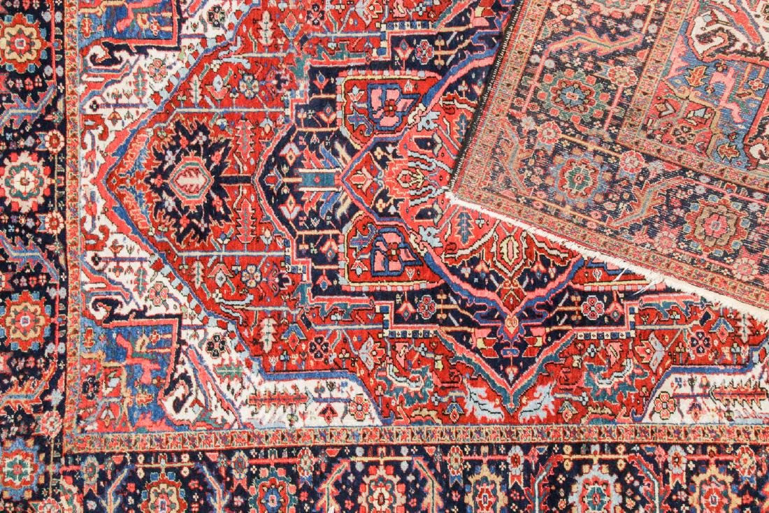 Antique Heriz and 2 Small Persian Rugs - 4