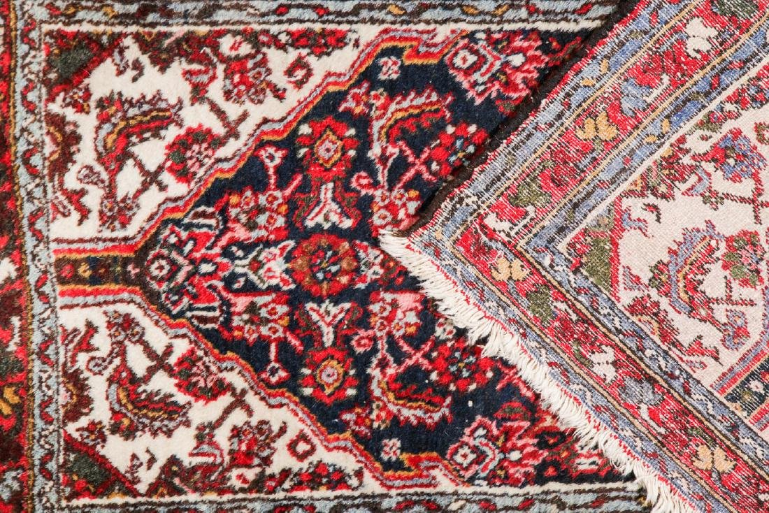 Antique Heriz and 2 Small Persian Rugs - 5