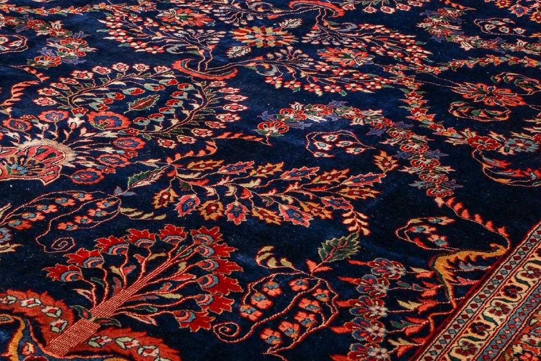 Vintage Blue Sarouk Rug, India: 9'11'' x 13'6'' - 6