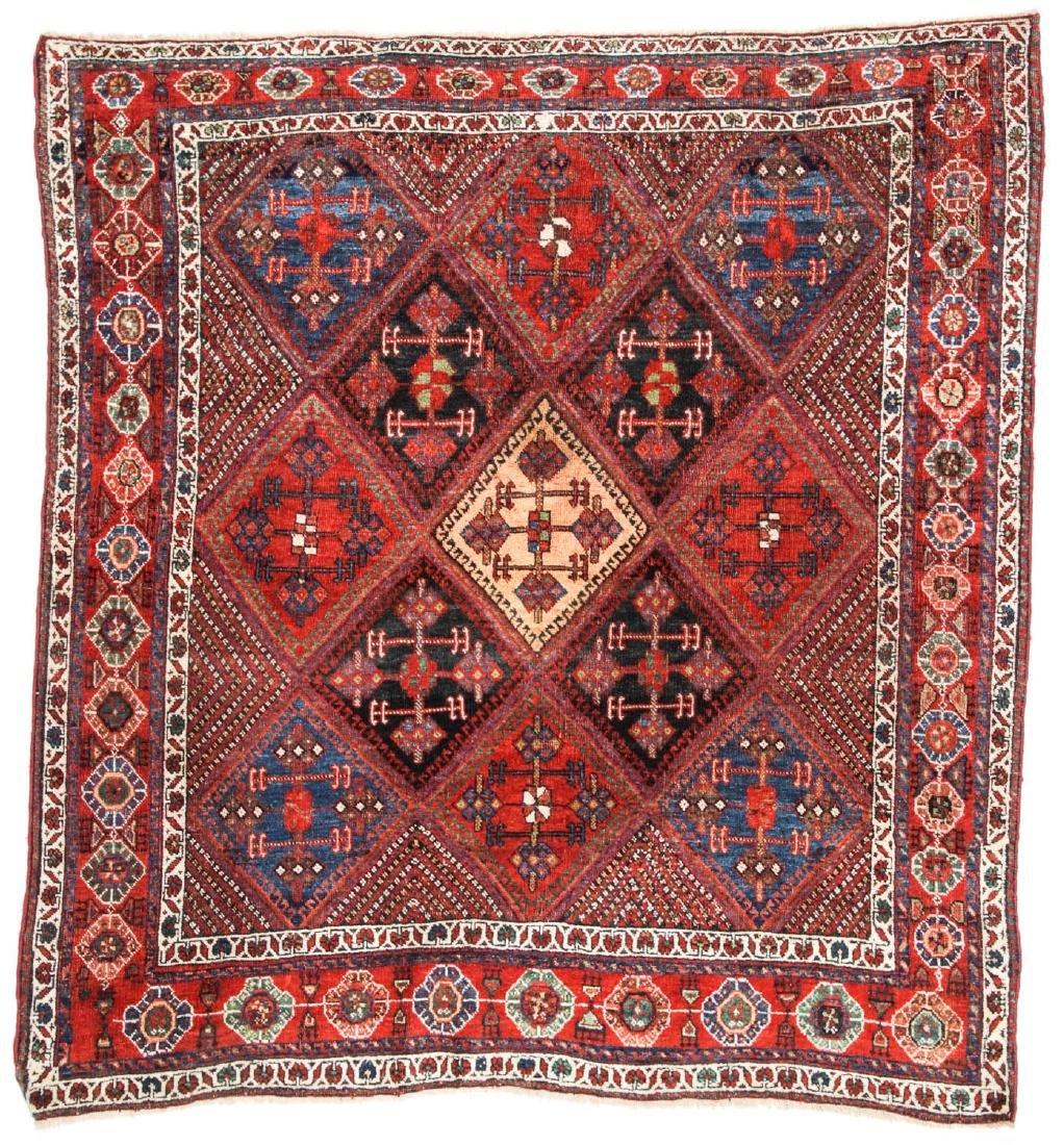 Antique Afshar Rug, Persia: 5'1'' x 5'5''