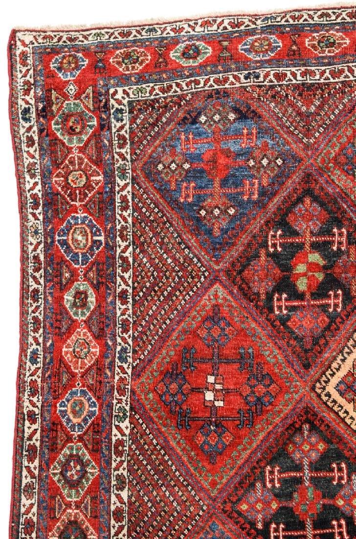Antique Afshar Rug, Persia: 5'1'' x 5'5'' - 2