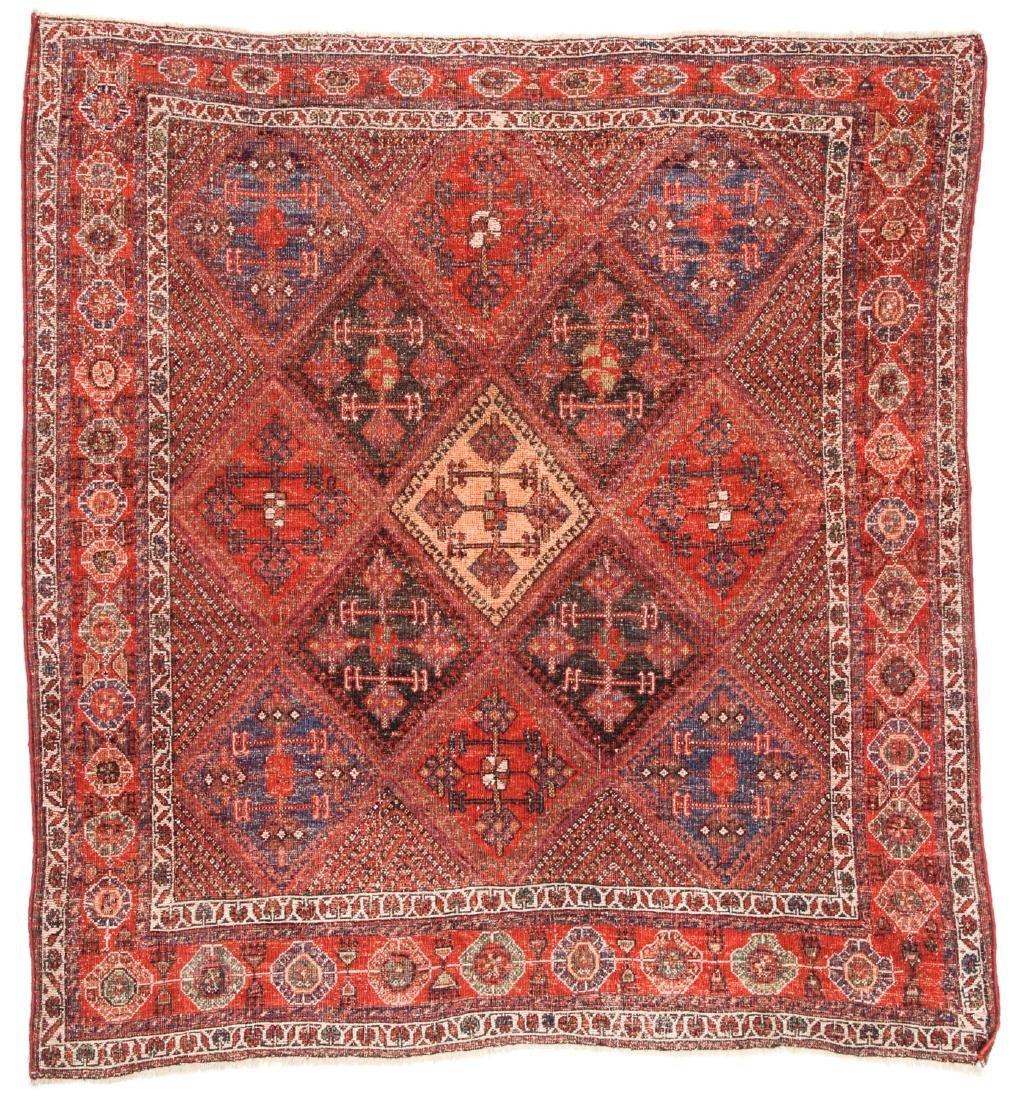 Antique Afshar Rug, Persia: 5'1'' x 5'5'' - 6
