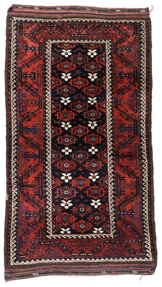Antique Beluch Rug, Afghanistan: 3'11'' x 6'11''