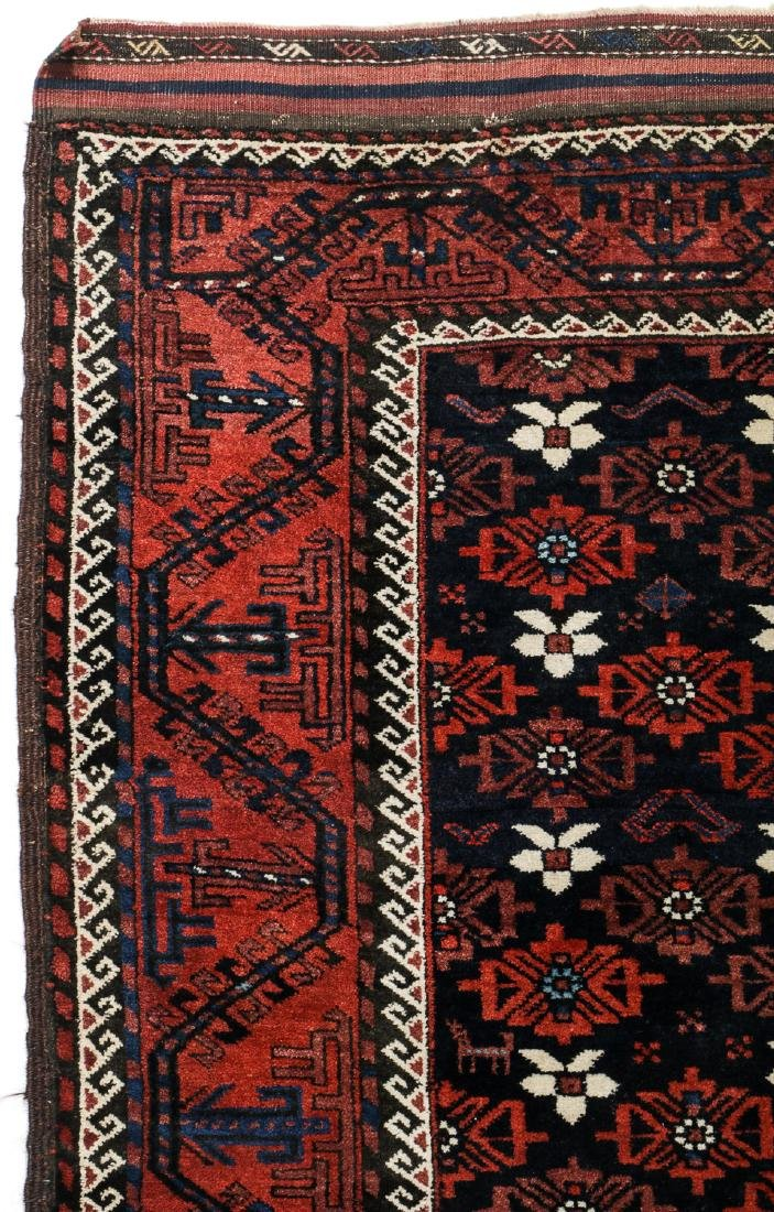 Antique Beluch Rug, Afghanistan: 3'11'' x 6'11'' - 2