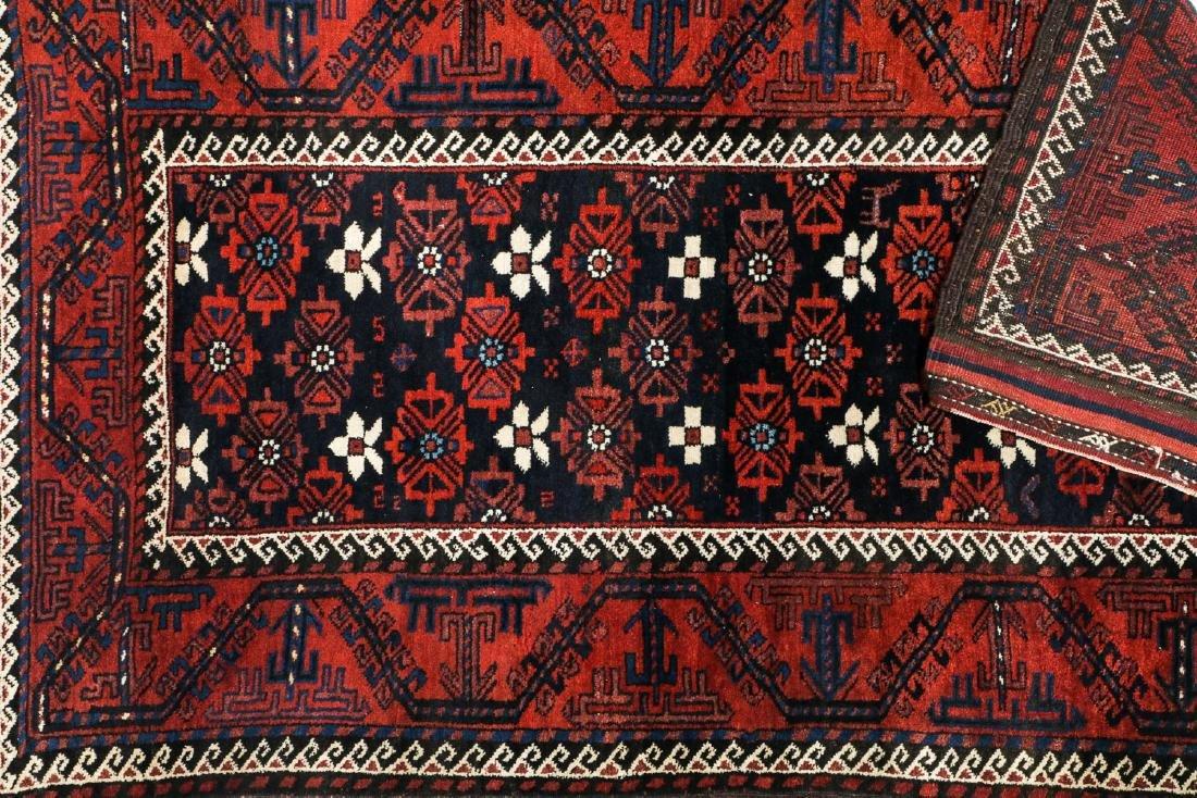 Antique Beluch Rug, Afghanistan: 3'11'' x 6'11'' - 4